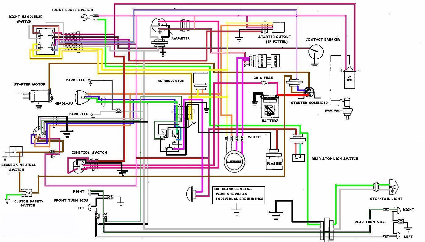Rz350 Wiring Diagram Custom Project Yamaha Royal Enfield Resources